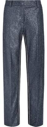 Cédric Charlier Striped Glitter Crepe Wide-Leg Pants