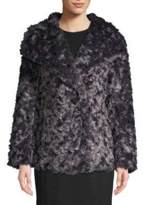 T Tahari Roslyn Reversible Faux Fur Coat