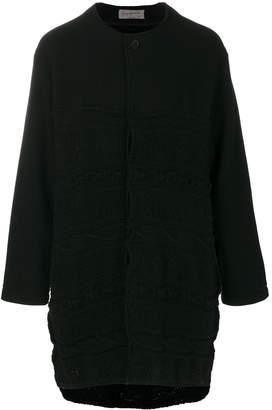Yohji Yamamoto pattern knitted cardi-coat