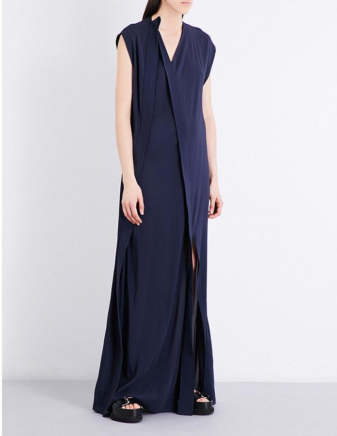 ChalayanChalayan V-neck chiffon gown