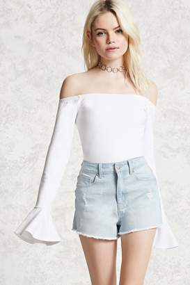 FOREVER 21+ Distressed Frayed Denim Shorts $19.90 thestylecure.com