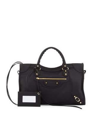 Balenciaga Classic City Nylon Shoulder Bag $1,435 thestylecure.com
