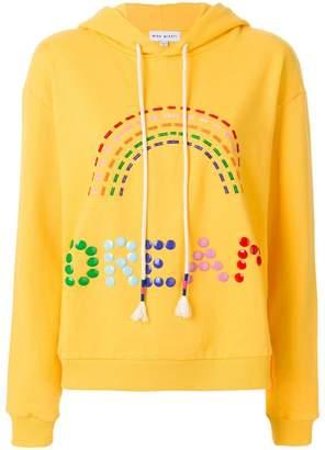 Mira Mikati rainbow embroidered hoodie