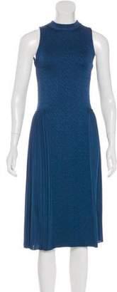 Nina Ricci Sleeveless Pleated Midi Dress