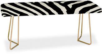 Deny Designs Natalie Baca Zebra Stripes Bench