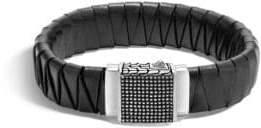 John Hardy Braided Leather Bracelet