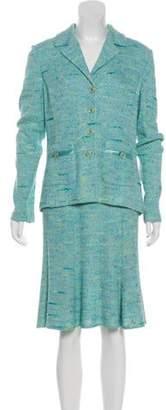 St. John Tweed Knee-Length Skirt Suit