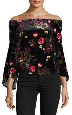 Lord & Taylor Design Lab Off-The-Shoulder Bell-Sleeve Top