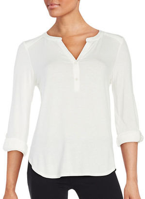 Lord & Taylor Hi-Lo Knit Blouse $68 thestylecure.com