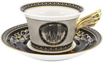 Versace 25th Anniversary Medusa Silver Teacup & Saucer