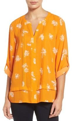 Women's Chaus Floral Print Pintuck Blouse $69 thestylecure.com