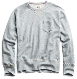 Todd Snyder + Champion Terry Pocket Sweatshirt in Light Grey Mix