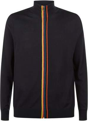 Paul Smith Artist Stripe Trim Cardigan