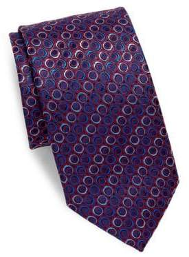 Canali Ring Silk Tie