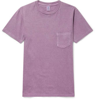 Velva Sheen Slim-fit Cotton-jersey T-shirt - Purple