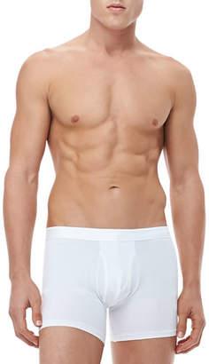 Derek Rose Jack Pima Cotton Stretch Trunks, White