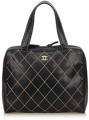 Chanel Vintage Lambskin Leather Surpique Handbag