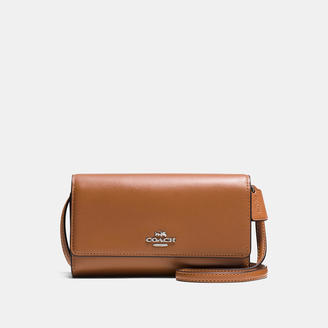 COACH Coach Phone Crossbody In Smooth Leather $135 thestylecure.com