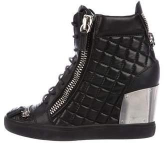 Giuseppe Zanotti Leather Wedge Sneakers