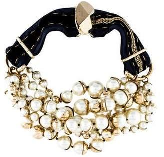 Christian Dior Faux Pearl Mise en Statement Necklace