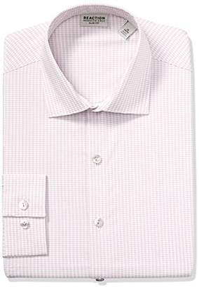 Kenneth Cole Reaction Men's Dress Shirts Slim Fit Technicole Stretch Check