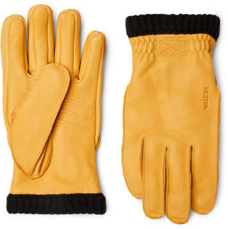 Hestra Primaloft Fleece-Lined Full-Grain Leather Gloves
