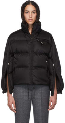 Prada Black Cropped Down Jacket