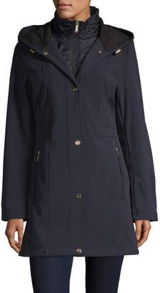 London Fog Stand Collar Hooded Jacket