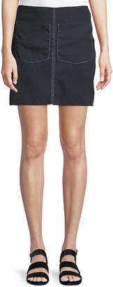 J.o.a. Patch-Pocket Mini Skirt