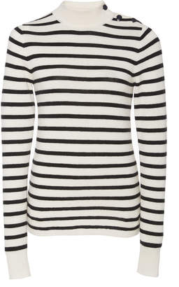 Nili Lotan Ann Striped Wool-Cashmere Blend Turtleneck Sweater