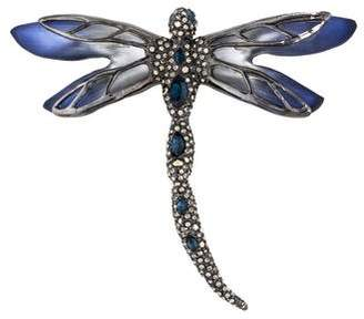 Alexis Bittar Lucite & Crystal Dragonfly Brooch