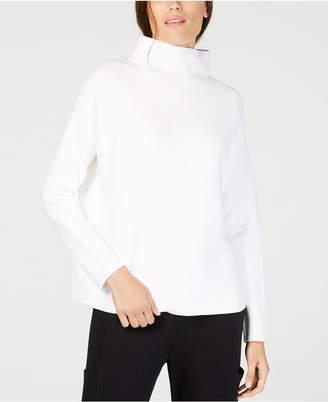 Eileen Fisher Mock-Neck Long-Sleeve Sweater, Regular & Petite