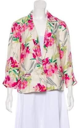 Elizabeth and James Silk Floral Casual Jacket