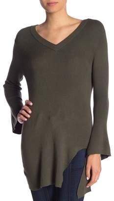 Splendid V-Neck Bell Sleeve Pullover