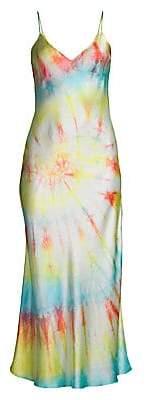 Dannijo Women's Tie Dye Silk Slip Dress