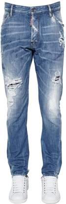 DSQUARED2 16.5cm Classic Kenny Plaid & Denim Jeans