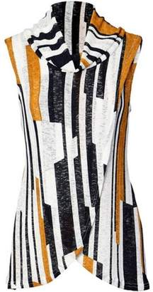 Dorothy Perkins Womens *Izabel London Multi Colour Striped Wrap Top