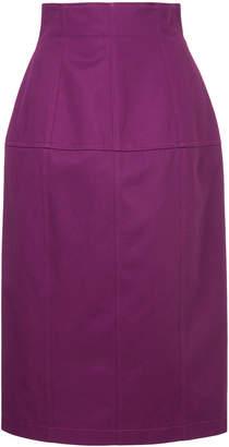 Le Ciel Bleu stitch detail high waisted skirt