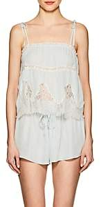 Raven & Sparrow by Stephanie Seymour Women's Annie Silk Georgette Camisole - Blue