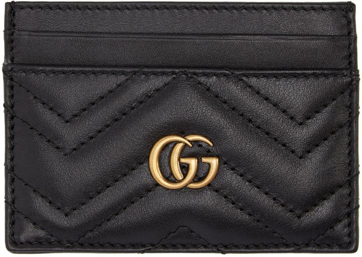 GucciGucci Black GG Marmont Card Holder