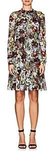 Erdem WOMEN'S DEVIKA FLORAL SILK TUNIC DRESS SIZE 14 UK