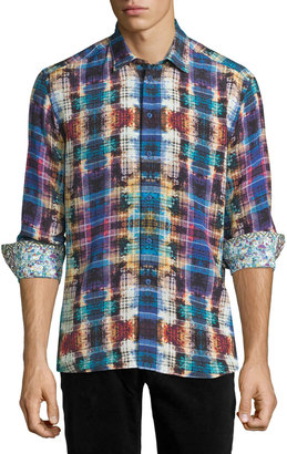 Robert Graham Constantinople Plaid Long-Sleeve Shirt, Multi $230 thestylecure.com