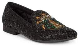Steve Madden P-Scarab Embellished Smoking Slippers
