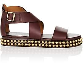Chloé Women's Chain-Embellished Leather Platform Sandals - Dk. Purple