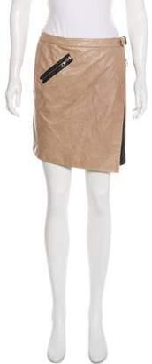 Rag & Bone Leather Asymmetrical Mini Skirt