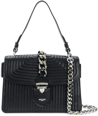 Moschino quilted chain tote