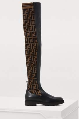 Fendi Rockoko flat thigh-high boots