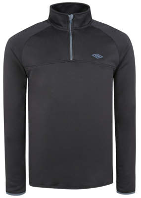 George Umbro Charcoal Funnel Neck Top