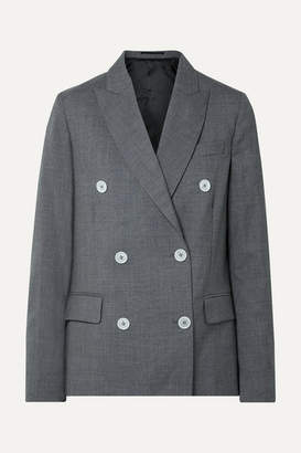 Golden Goose Misam Double-breasted Wool-crepe Blazer - Anthracite