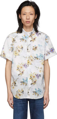 Naked & Famous Denim Denim Denim White Flower Painting Easy Shirt